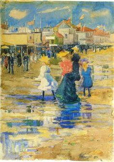 Revere Beach - Maurice Prendergast, 1896