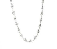 Platinum Graduated Diamond Necklace. 16 Long. Total diamond weight 5cts  http://www.luciecampbell.com/necklaces/All/1153--5/  £7450  richard@luciecampbell.com  Lucie Campbell Jewellers Bond Street London  http://www.luciecampbell.com