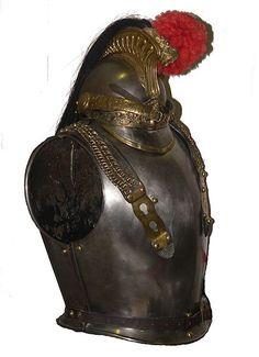 Coraza y casco de caballería francesa