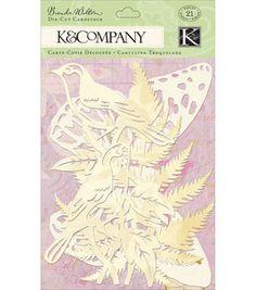 K & Company Cardstock Die-Cuts - 21PK/Flora & Fauna: papercrafting coordinates: scrapbooking: Shop | Joann.com