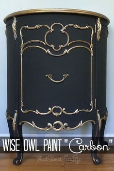 Painted in Wise Owl Chalk Synthesis Paint in Carbon by Thea at Sweet Tea Refinishing ❤️