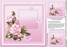 Pink Camelias on Lace Trims 8in x 8in Insert Plate on Craftsuprint designed by Sue Douglas - This is the matching 8in x 8in Insert Plate sheet for the Pink Camelias on Lace Trims 8in x 8in Decoupage Mini Kit design, Also included on the sheet are two smaller panels to place on to the back and the inside left of your finished card. If you would like to see the Decoupage sheet that matches this design, please go to the Related Sheets option. Instructions are included on this sheet. To see my…