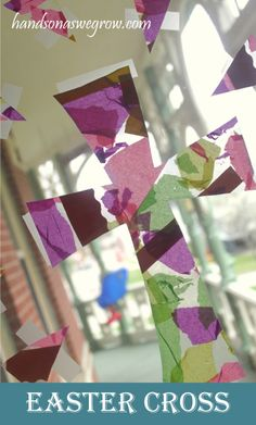 Easter Holiday Craft: Tissue Paper Cross Collage