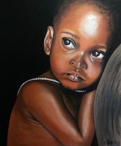 KAY, l'attente du petit frère Pastel sec sur papier abrasif 50 x 60 cm http://www.artmajeur.com/catherinewernette/