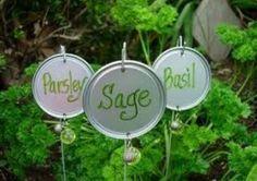 Garden markers. #tincanjewelry
