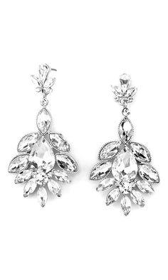 Crystal Madeline Earrings in Ice