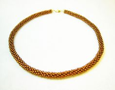Brown Kumihimo Necklace by kiddercreations on Etsy, $45.00