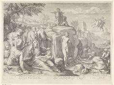 Jacob Matham, Cornelius Schonaeus, Gerard van Keulen - Andromeda aan de rots geketend, 1597.  Rijksmuseum,  Amsterdam