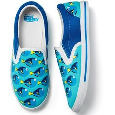 Finding Dory Slip On Sneaker   Avon ($20) ❤ liked on Polyvore featuring shoes, sneakers, dory, slip-on shoes, pull on sneakers, slip on shoes, slip-on sneakers and slip on trainers