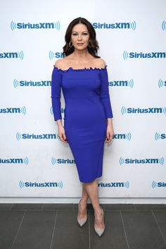 Looking good: Catherine Zeta-Jones, rocked an effortlessly understated cobalt dress in New York on Thursday Catherine Zeta Jones, Hot Country Girls, Cobalt Blue Dress, Special Dresses, Beautiful Celebrities, Celebrities Fashion, Beautiful Women, Miranda Kerr, Red Carpet Fashion