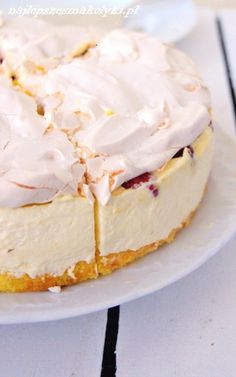 Easy Cake Recipes, Sweet Recipes, Dessert Recipes, Christmas Dishes, Christmas Cooking, Polish Desserts, Cheesecake, Sweets Cake, My Dessert