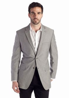 Saddlebred® Classic-Fit Gray Chambray Sport Coat