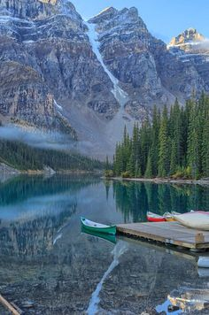 My Friday Travel Day Dream - Moraine Lake, Banff National Park, Alberta, Canada And its in my back yard