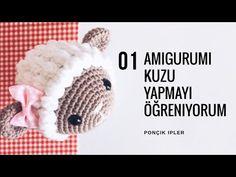 Amigurumi Kuzu Yapılışı / Kuzu Anahtarlık / Pıtırcık ( Popcorn ) Yapılışı 1.Bölüm - YouTube