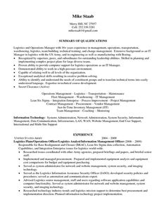 Logistics Coordinator Resume Sle 28 Images It Service Operations Manager  Resume Contemporary