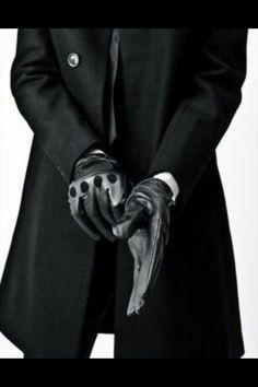 Image de gloves, black, and man