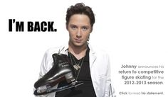 Love Johnny Weir - Love that he is going to compete again!