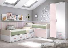Consejos, trucos e ideas para dormitorios pequeños Bedroom Inspirations, New Room, Kids Bedroom Designs, Remodel Bedroom, Kid Room Decor, Girl Room, Bedroom Design, Small Bedroom, Shared Bedrooms