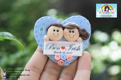 Printing Sculpture Ice Cubes Fridge Magnets Save The Date Referral: 3415182023 Polymer Clay Figures, Polymer Clay Projects, Polymer Clay Crafts, Diy Clay, Diy Wedding Gifts, Wedding Souvenir, Happy Anniversary Cakes, Clay Keychain, Clay Magnets