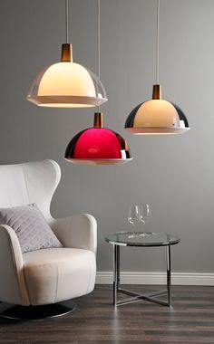Lamps- with Pearls: Yki Nummi - Kupla Copper Interior, Home Depot Carpet, Primitive Furniture, Interior Decorating, Interior Design, Living Styles, Red Interiors, Interior Lighting, Interior Architecture