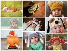 Funny  Babies Knitted Hats.