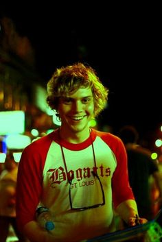Recent photo of a current actor (Evan Peters)... but he looks like the cutest boy in school circa 1978. #70s #seventies