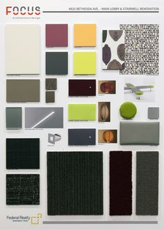 Beautiful Finish Board Full Of Colors, Textures, And Design Inspiration. Interior  Design Renderings