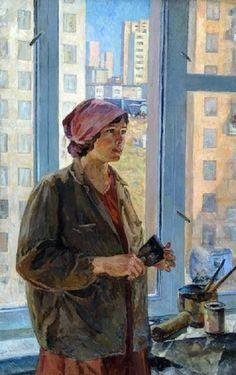 Painter - Svetlana Ivannikova , 1970 Russian,b.1941- Oil on canvas