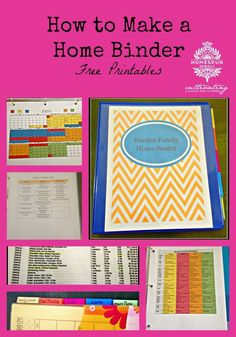 How to make a family home binder - free printables - Homespun Sprout