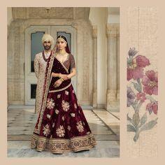 Designer sarees ,indian sari ,bollywood saris and lehenga choli sets. punjabi suits patiala salwars sets bridal lehenga and sarees. Wedding Lehnga, Indian Bridal Lehenga, Indian Bridal Outfits, Indian Bridal Wear, Bridal Dresses, Punjabi Wedding, Wedding Wear, Trendy Wedding, Wedding Bells