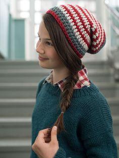 Virkad Wakayama mössa Myboshi | Novita knits