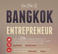 The Pete Design | Bangkok Tech Entrepreneur