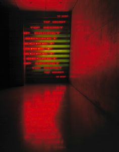 Red Yellow Looming by Jenny Holzer, 2004