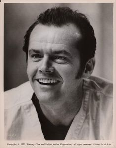 Jack Nicholson. One Flew Over The Cuckoo's Nest.