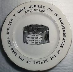 1896-JUBILEE-ENGLISH-IRONSTONE-POTTERY-PLATE-DENBY-DALE-PIE-REPEAL-OF-CORN-LAWS
