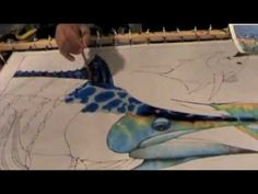 SILK PAINTING WITH JEAN-BAPTISTE - MARLINE