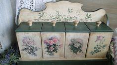 cajas decoradas c/pintura-decoupage