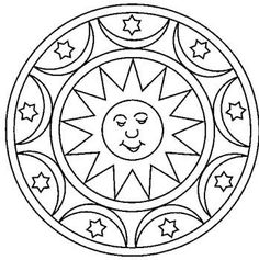 Mandala soleil #mandala #mandalas #coloriage