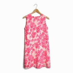 BUILT BY WENDY 99 Red Balloons Silk Dress Pink Ivory Shift Dress - XS