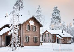 Holiday Village Gulo Gulo in Ranua Zoo in Lapland Finland