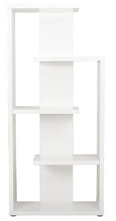 "Covina 5 Shelf Modern Bookcase WHITE LACQUER  32""w x 12""d x 71""h  $398.00   Apt2B"