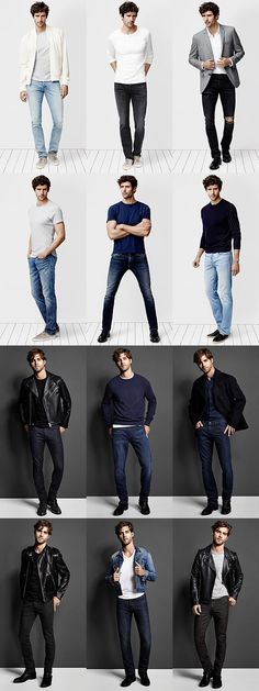 There's a reason jeans are a few of the most well-known pants on earth! They are the ultimate staple. And as a conventional casual wear, the most typical men's jeans are basic blue jeans that are appropriate for virtually every man on earth. Nudie Jeans, Men's Jeans, Jeans Shoes, Blue Jeans, Khaki Pants, Mode Masculine, Fashion Moda, Mens Fashion, Fashion Suits