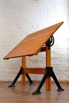 nice standing desk, based around old draughting table