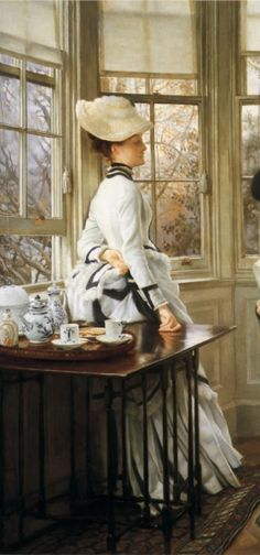 James Tissot (open window, to let in the spring air?)