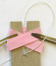 Make tiny baby bows with this template