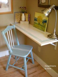 No Space for a Desk? Install a Shelf Desk!
