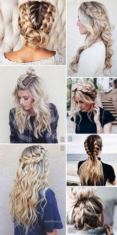 Tr Frisuren Bilder - Extremesport - Dream House - Make Up - Jewelry DIY Easy - Beautiful Hair Styles - DIY Kitchen Projects Cute Braided Hairstyles, Hairstyle Look, Summer Hairstyles, Pretty Hairstyles, Girl Hairstyles, Oscar Hairstyles, Hairstyle Photos, Quick Hairstyles, Curly Hair Styles