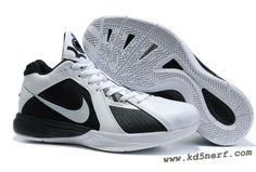 4fc55c7d3d0104 Nike KD III Kevin Durant Shoes Black White Hot