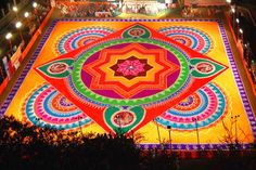 Traditional Rangoli Design !