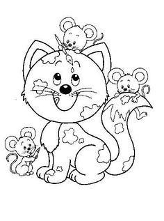 Detalle de la imagen de -Dibujos de gatos » Gatos para colorear